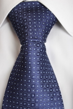 Blue tie with white point