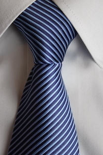 Tie with blue and sky blue lines
