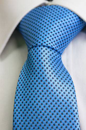 light blue braided tie
