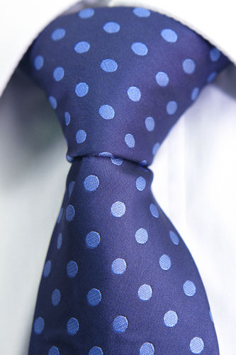 Blue polka dot blue tie